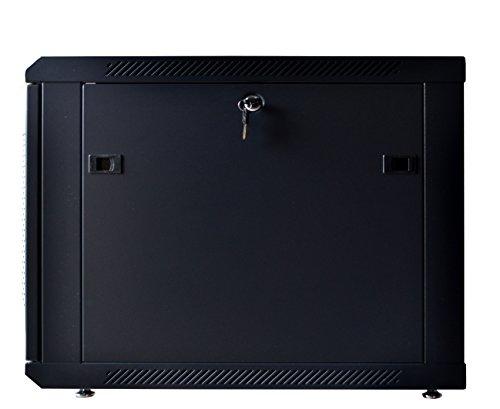 9U Server Rack Cabinet Enclosure. ACCESORIES FREE! Vented Shelf, Cooling Fan, Power Strip. Wall Mount 24'' Deep Fully Loaded Lockable Enclosure Box … by SYSRACKS (Image #2)