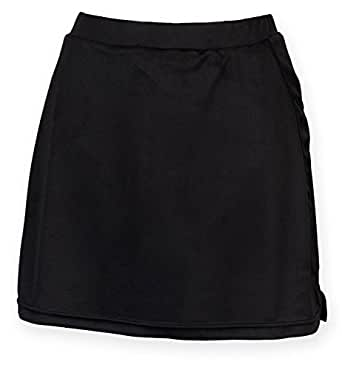 Finden Hales Womens Skort With Wicking Finish - Black, Navy or Red - Black - XS