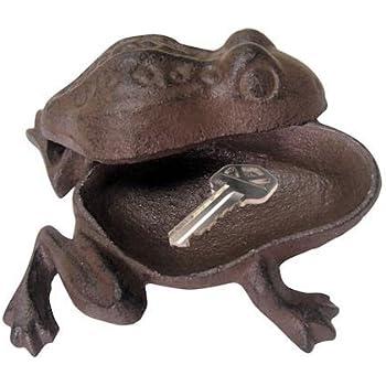 Good Garden Frog Outdoor Hide A Key Hider Cast Iron Charming