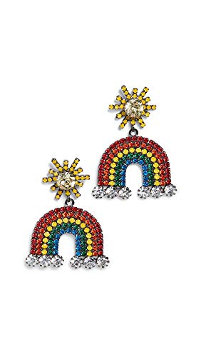 Elizabeth Cole Women's Rainbow Earrings, Rainbow, One Size