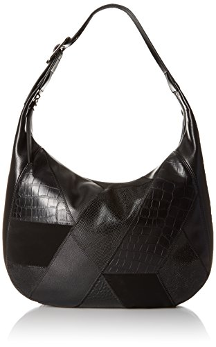 Nine West Patchworks Hobo, Black/Black/Black/Black