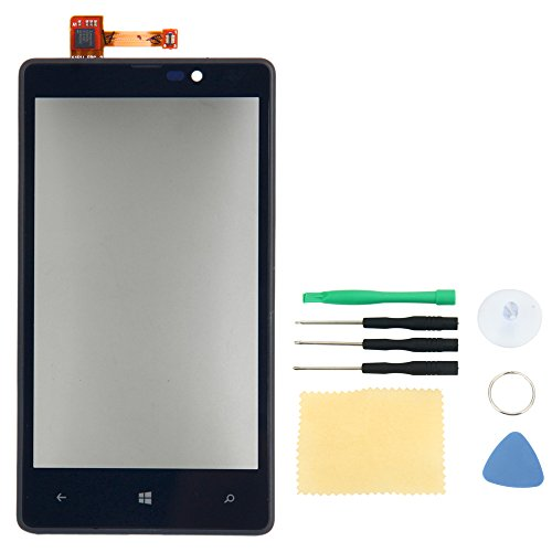 Touch Screen Digitizer Replacement Lens Part with Frame for Nokia Lumia 820 with Tools
