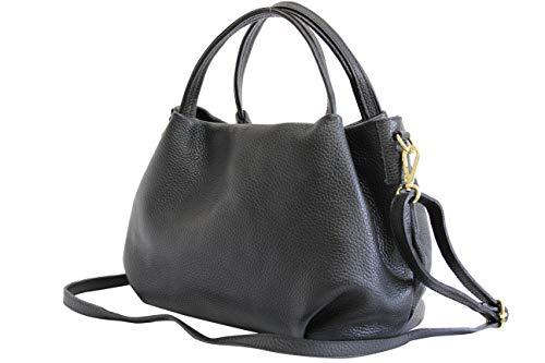 cuir Gl023 en main Épaule noir bandoulière à Sac à pour italien Ambramoda Sac femme qvx4w4