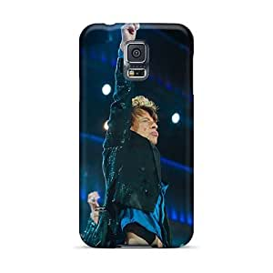 Samsung Galaxy S5 MqT9264aTQZ Special Colorful Design Rolling Stones Pictures Perfect Cell-phone Hard Covers -AlissaDubois