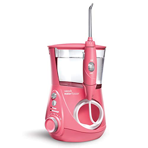 Water Flosser Electric Dental Countertop Professional Oral Irrigator For Teeth - Aquarius Designer,  Pink - Waterpik WP-674