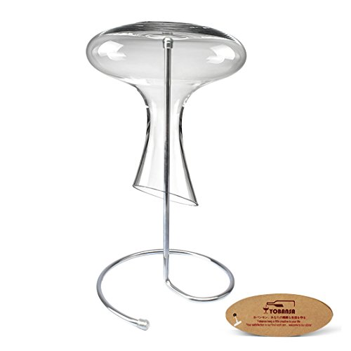 YOBANSA Stainless Steel Wine Decanter Drying Stand,Wine Decanter Displays Holder,Wine Glass Dryi ...