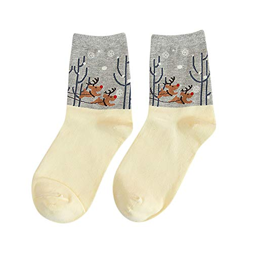 Hot Sales!Mlide Christmas Autumn Winter Cotton Women Fashion Lovers Socks(Gray) by Mlide (Image #1)