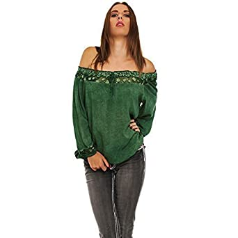 Moda Italy - Tirantes - corte imperio - Básico - para mujer Verde ...