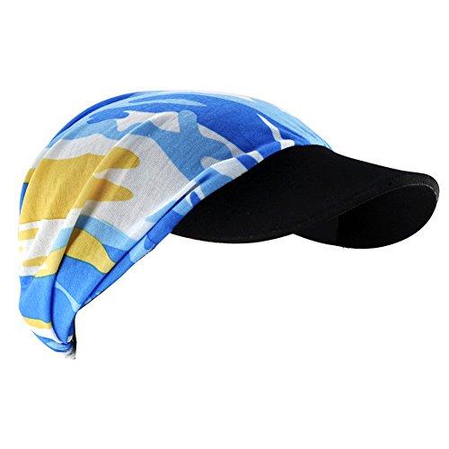 Veroda Summer Block Sport Sweat Hat Outdoor Activity Quick-Dry Color Blue