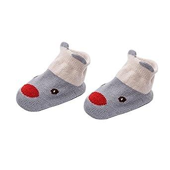 Animal Cotton Stockings Anti Slip Baby Toddler Crew Grip Socks Non-Skid Cartoon Socks for Kids
