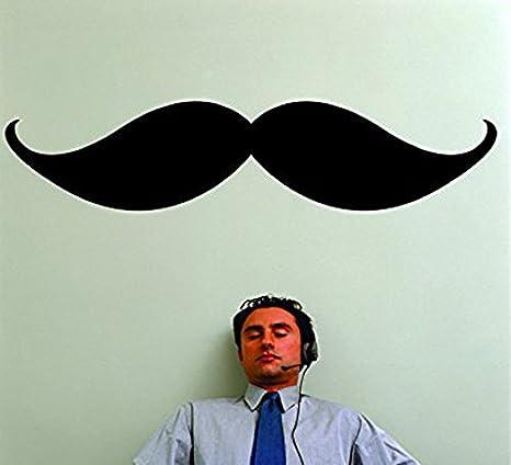 Design with Vinyl RAD 1088 2Mustache Mens Vinyl Wall Decal Black 16 x 24