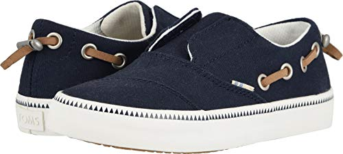 Toms Youth Size (TOMS Youth Pasadena Slip-On Shoes, Size: 13.5 M US Little Kid, Color: Navy)