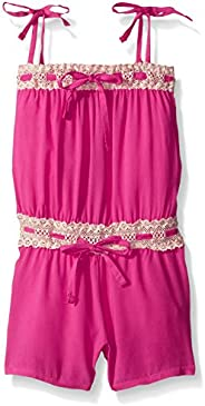 Limited Too Big Girls' Solid Rayon Romper with Eyelet