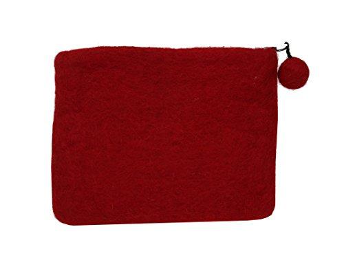 Feltro rosso con arcobaleno stampato borsa della moneta del regalo degli accessori
