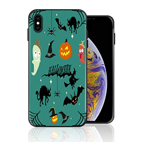 Silicone Case for iPhone XR, Halloween Witch Cat