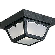 Progress Lighting P5744-31 Non-Metallic Ceiling Light with 1-Piece White Acrylic Diffuser, Black