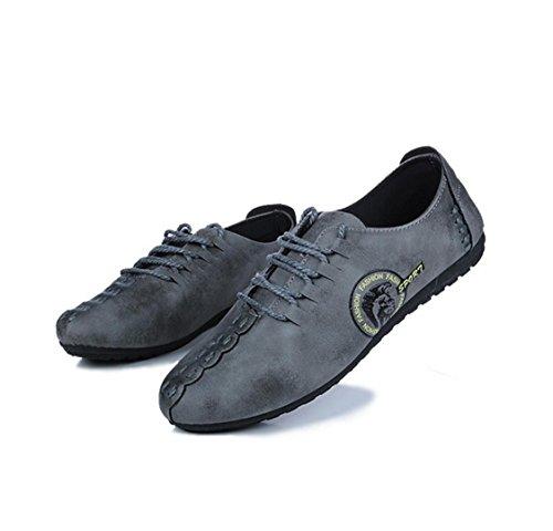 WZG El nuevo calzado ligero perezoso establece zapatos casuales del pie zapatos de moda zapatos de los guisantes Grey