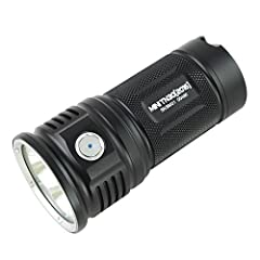Specification:   LED: Three CREE XM-L2 U2 LEDs with a lifespan of 20+ years of run time.   Six output mode: firefly, low, medium, high turbo and strobe.   Battery: 4 x 18650 (ThruNite 18650 3200mAh)   Working Voltage: 10.5 - 17 V   Working T...