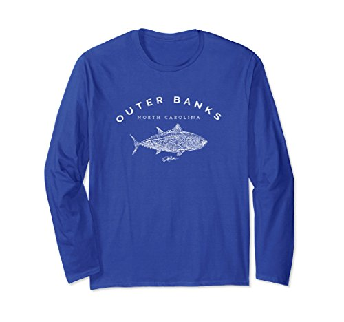 Bluefin Tuna (Unisex JCombs: Outer Banks, North Carolina/Bluefin Tuna T-Shirt Large Royal Blue)