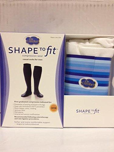 Dr. Comfort Shape to Fit Compression Socks for Men MED WHITE 20-30 - To Shape Fit