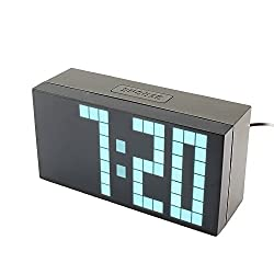 Yosoo Large Big 4 6 Digit Jumbo LED Digital Alarm Calendar Snooze Wall Desk Clock (white, 4-digit version)