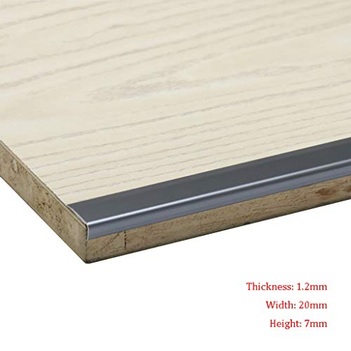 GWXFHT Threshold Strip L Type Wooden Floor Blanking strip Non-slip Right angle Decorative lines Pressure edge Strip…