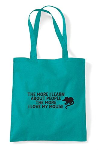 More Funny Mouse Pets About Bag I The Shopper People Lover Love Person My Emerald Animal Learn Tote 7dq0w4