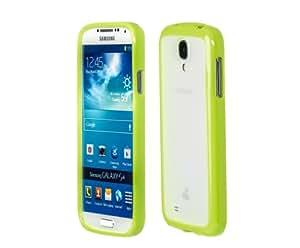 Funda en verde para Samsung Galaxy SIV con efecto de vidrio de leche