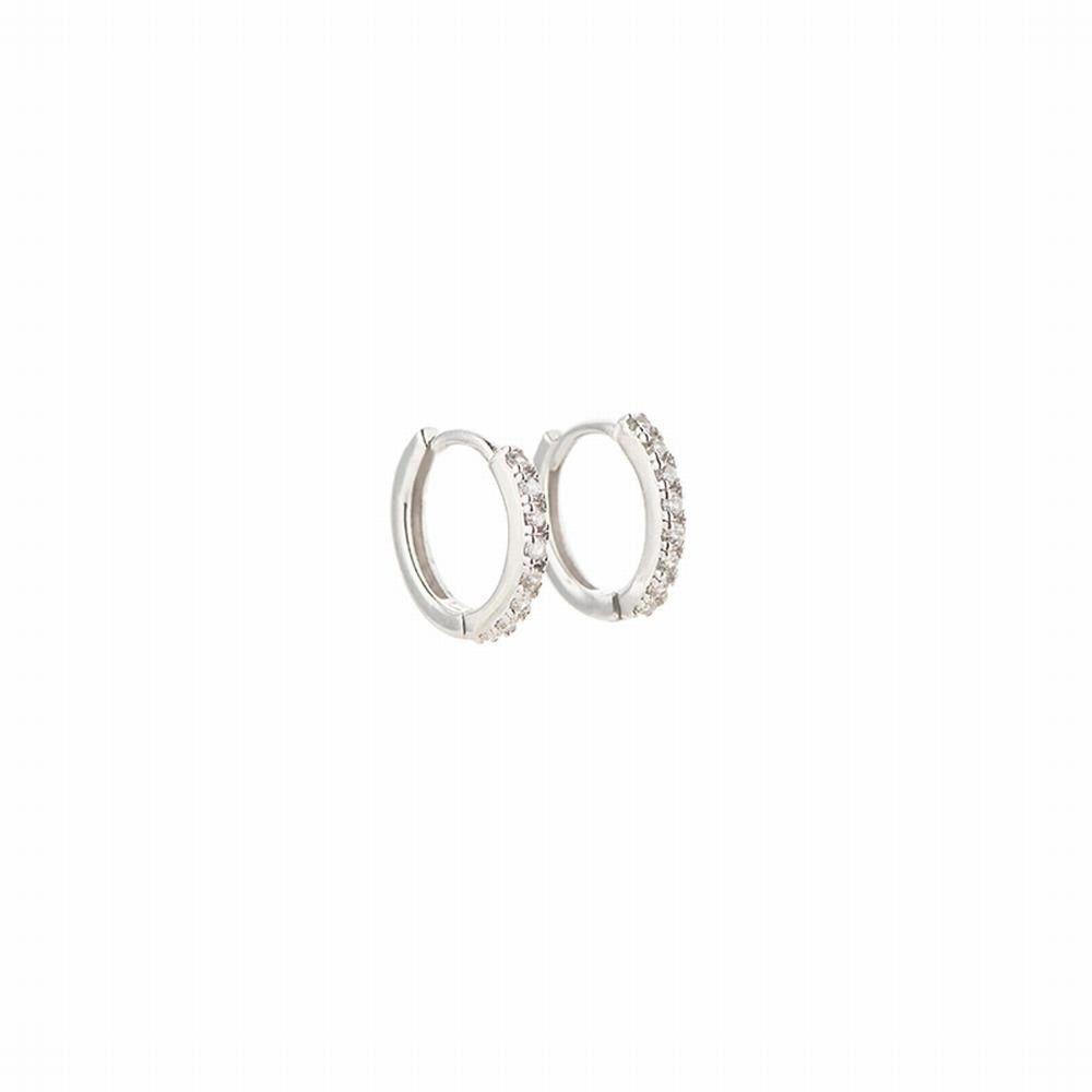 Ling Studs Earrings Hypoallergenic Cartilage Ear Piercing Simple Fashion Earrings Ear Jewelry Earrings 925 Silver Simple Earrings Short White