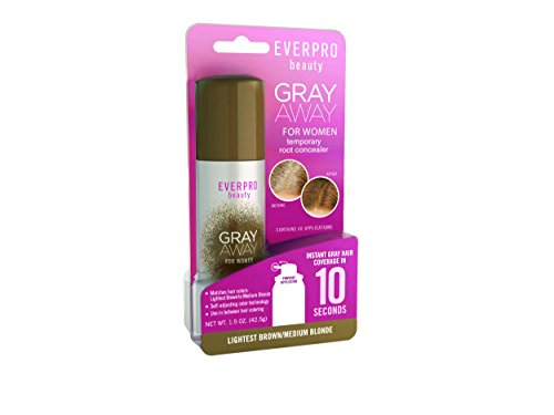 Everpro Gray Away Temporary Root Concealer, Lightest Brown/Blond, 1.5 Ounce