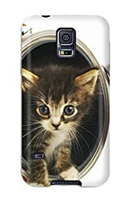 diy phone case(agMoPpT2837qwtDp)durable Protection Case Cover For Galaxy S5(kitten In A Tin Can)diy phone case