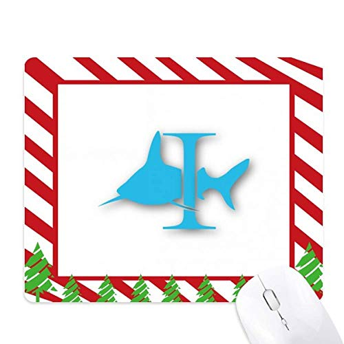 (Attacks Around Shark Pillars Mouse Pad Candy Cane Rubber Pad Christmas Mat)