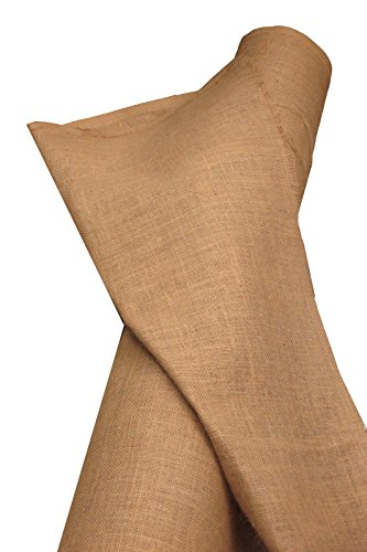 LA Linen 60-Inch Wide  Natural Burlap , 60 Yard (Burlap Fabric Wholesale)