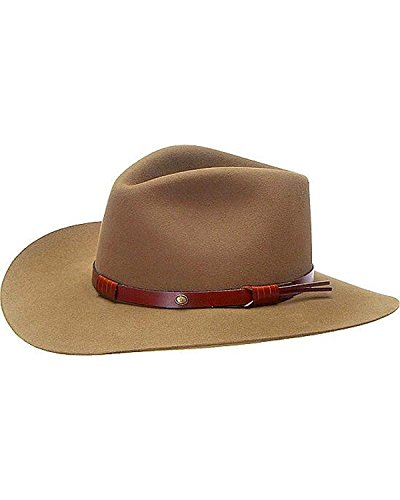 Stetson Men's 5X catera Fur Felt Cowboy Hat Bark 7 1/8 Stetson Gun Club