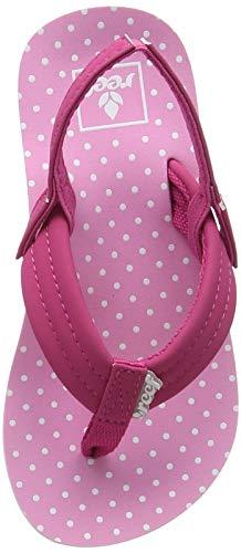 (Reef - Girls Little Ahi Sandals, Size: 5/6 M US Toddler, Color: Polka Dot)