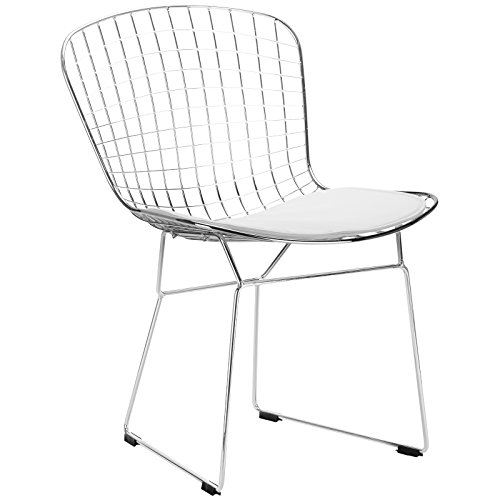 Harry Bertoia Side Chair (Poly and Bark Morph Side Chair in White)