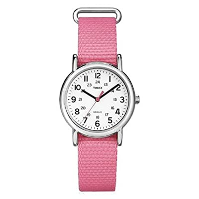 "Timex Women's ""Weekender"" Analog Display Quartz Watch With Pattern Band"