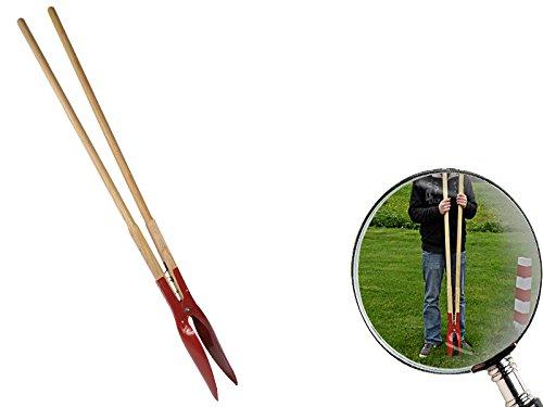 Lochspaten mit rot lackierten Stahlschaufeln und Hartholzstiel 1.560 mm lang