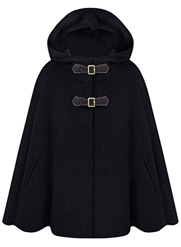 Wool Blend Hooded Coat - 8