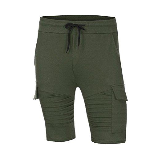 Verde Da Pantaloncini In Byste Coulisse Uomo Estate Cotone Fitness Spiaggia shorts Corti Palestra E Di Jogging Bermuda Cargo Per Tasca Felpa Pantalone Sport Outdoor Con EOxwq0fxS