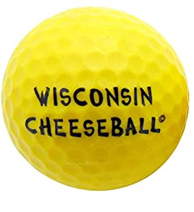 Wisconsin Cheese Ball Novelty Golf Ball Fun Golfing Gag Gift for Golfer Dad