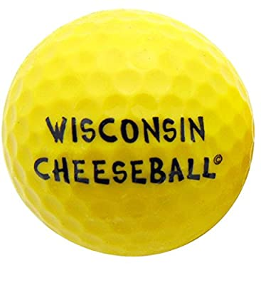 Wisconsin Cheese Ball Novelty Golf Ball Fun Golfing Gag Gift for Golfer Dad