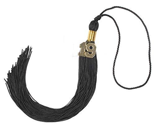 (GraduationForYou Graduation Tassel With 19 Year Charm(Black))