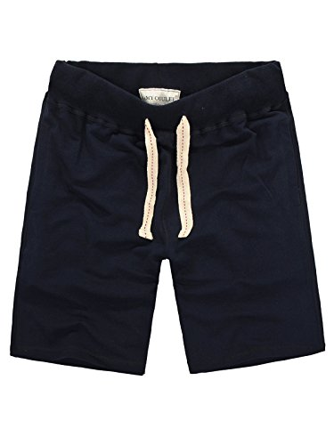 Amy Coulee Men's Waistband Cotton Shorts with Pockets (XL, (Casual Cotton Short)