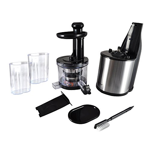 NutriChef Healthy Low Heat vitamin Preserving Masticating Slow Juicer, Juice Extractor For ...