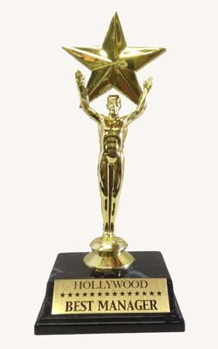 Recognition Star Trophy Best Manager Award 75quot Oscar Style