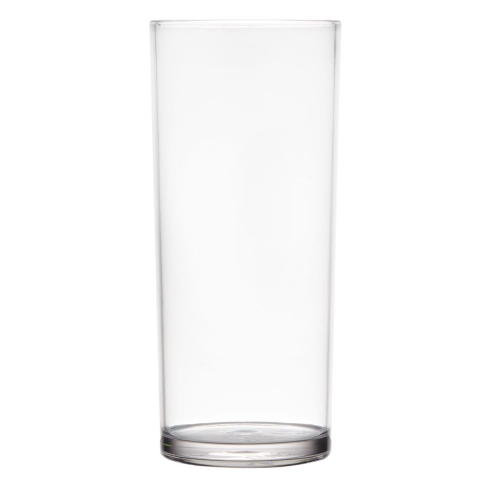 GET H-16-1-SAN 16 oz. Clear SAN Plastic High Ball Glass - 24/Case