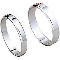 Tidoo Jewelry Partysu Couple Rings Real 925 Sterling Silver Wedding Set Rings for Women and Men 1 Pair Engagement Rings Set Jewelry