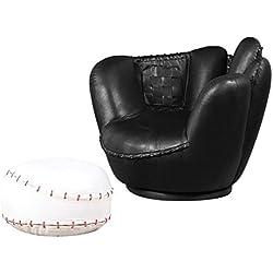 ACME 05522A 2-Piece All Star Set Chair and Ottoman, Baseball