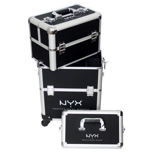 NYX Professional Makeup Makeup Artist Train Case, 4 Tier Black/Silver